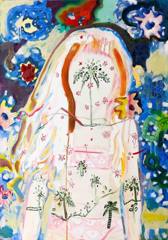 Hippiemama / olieverf op doek / 70 x 100 cm / 2015