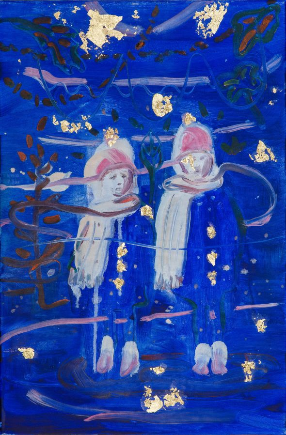 Jongetjes (#5) / olieverf op doek / 40 x 60 cm / 2015