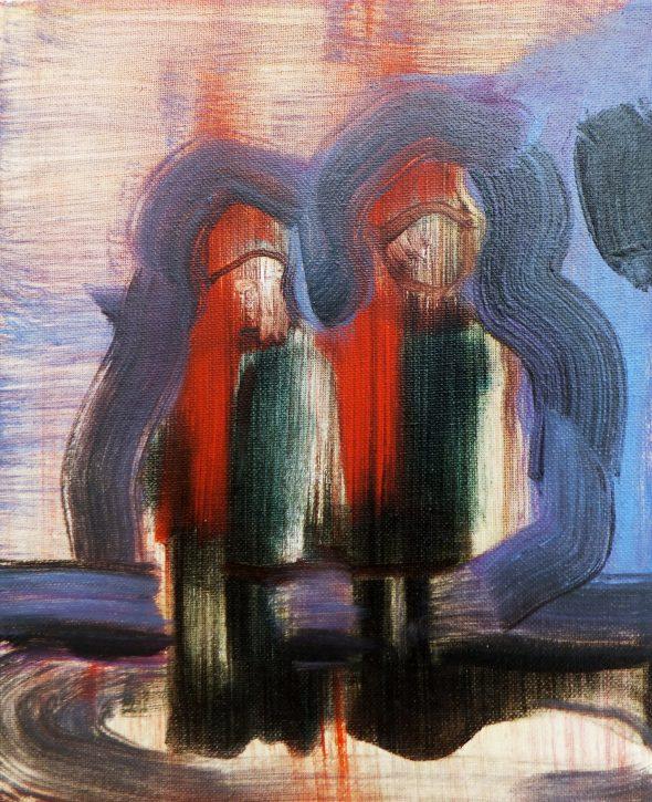 Jongetjes (#4) / olieverf op doek / 24 x 30 cm / 2014