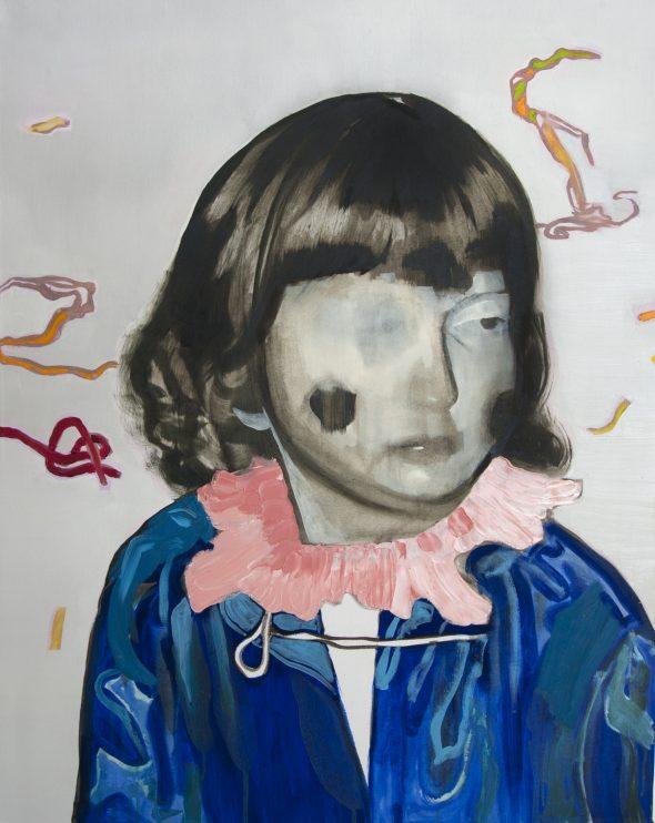 Meisje met kraag / olieverf op doek / 70 x 90 cm / 2013