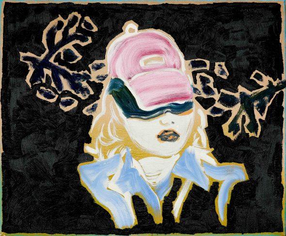 Meisje met pet / olieverf op doek / 45 x 45 cm / 2015