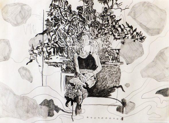 Vortex / potlood op papier / 30 x 42 cm / 2014
