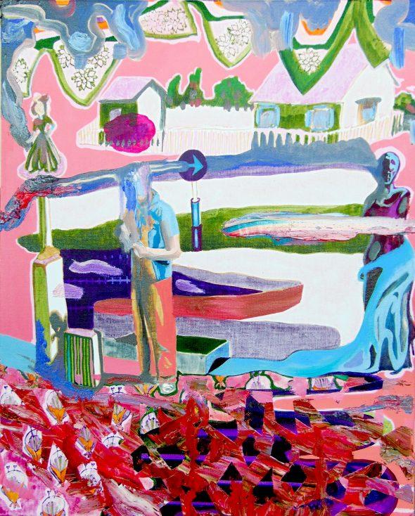 Pink Dream / olieverf op doek / 60 x 80 cm / 2018